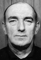 Thomas Ferguson, 48 years, Roman Catholic, from Curzon Street, who was one of five who died,  when a canister bomb was thrown into the Rose and Crown bar on the Ormeau Road, Belfast, N Ireland. The perpetrators were the UVF two of whom were later brought to justice. 197405030252TF.<br />