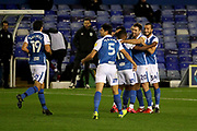 GOAL CELE 1-0 BIRMINGHAM CITY'S Gary Gardner  during the EFL Sky Bet Championship match between Birmingham City and Huddersfield Town at the Trillion Trophy Stadium, Birmingham, England on 28 October 2020.