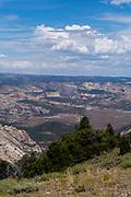 High angle view of Dinosaur National Monument, Colorado, USA.