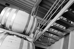 Galatina - Cantine Aperte 2010 - Azienda Agricola Valle dell'Asso - Magazzino con le botti che contengono il vino nuovo.