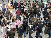 Yoyogi park Harajuku Tokyo Japan children go there to meet and dress up