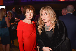 Celia Imrie and Helen Lederer at the Costa Book Awards 2017 held at  Quaglino's, 16 Bury Street, London England. 30 January 2018.