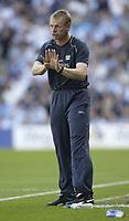 Photo: Aidan Ellis.<br /> Manchester City v West Ham United. The Barclays Premiership. 23/09/2006.<br /> City manager Stuart Pearce