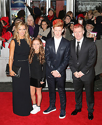 © Licensed to London News Pictures. Former Manchester United footballer Paul Scholes and his family attend The Class of 92  World Film Premiere at The Odeon West End, Leicester Square, London on 01 December 2013. Photo credit: Richard Goldschmidt/LNP