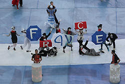 July 2, 2017 - Saint Petersburg, Russia - Performers entertain the crowd at the closing ceremony prior to the FIFA Confederations Cup final match between Chile and Germany at Saint Petersburg Stadium on July 02, 2017 in St. Petersburg, Russia. (Credit Image: © Igor Russak/NurPhoto via ZUMA Press)