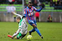 Lenny NANGIS / Yohann MOLLO - 01.02.2015 - Caen / Saint Etienne - 23eme journee de Ligue 1 -<br />Photo : Vincent Michel / Icon Sport