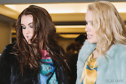 PROVIDENCE, RI - FEB 13: Sadie Palmer and Jessie Kentworthy backstage at the Alistair Archer show during StyleWeek NorthEast on February 13, 2015 in Providence, Rhode Island. (Photo by Cat Laine)