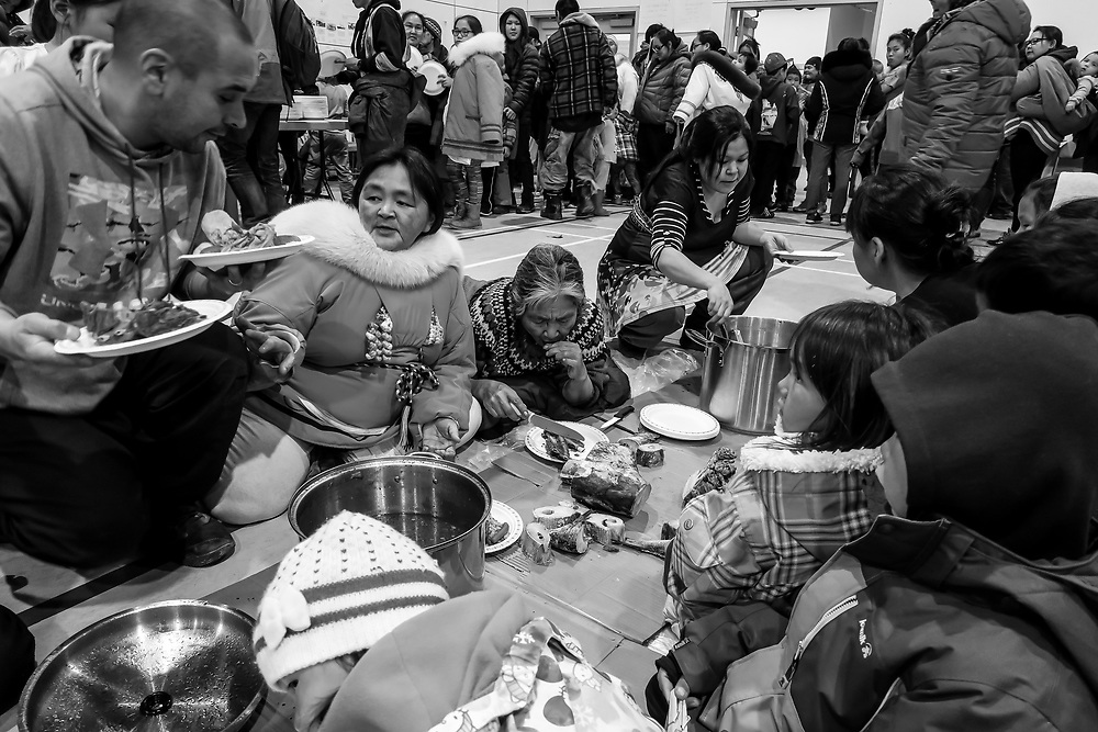 Sharing the country food with all the members of Inukjuak community