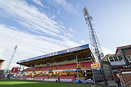 A general view of The T L Dallas Stand at the Northern Commercials Stadium before the The FA Cup match between Bradford City and Chesterfield at the Northern Commercials Stadium, Bradford, England on 4 November 2017. Photo by Craig Zadoroznyj.