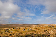 A complete bronze age stone circle in Dartmoor National Park