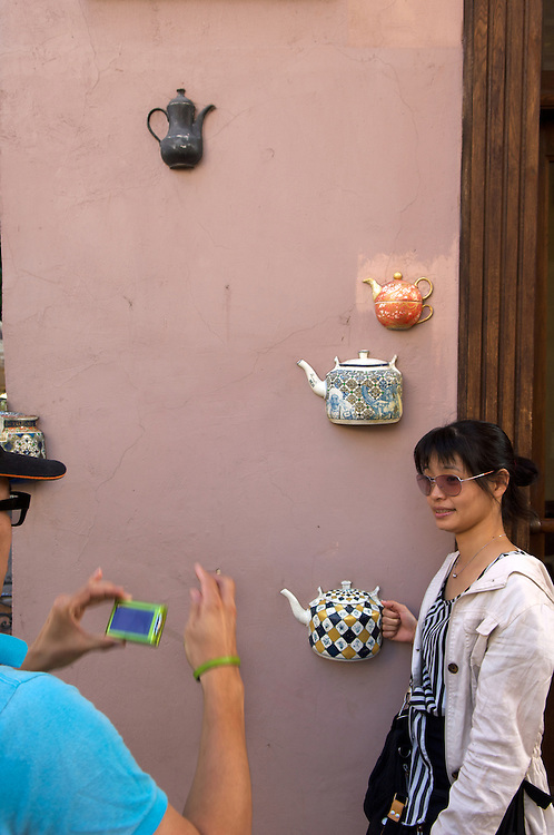 Portrait session, teapot shop, Vilnius, Lithuania