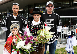 Fans during reception of Slovenian NHL player Anze Kopitar after he and his team Los Angeles Kings 2nd time won Stanley cup in the final of NHL on May 26, 2014 in Airport Joze Pucnik, Brnik, Slovenia. Photo By Matic Klansek Velej  / Sportida