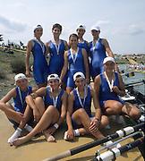 Zagreb, CROATIA.  2000 FISA World Rowing Junior & Non-Olympic Seniors Championships   [Mandatory Credit Peter Spurrier/Intersport Images]Zagreb, CROATIA.  ROM JW8+ bow, ACSINTE  .Irina, 2. BORAC Adriana, 3. CHELARIU Diana, 4. DUTA Adriana, 5.TABACARU, 6. DIACONU Monica, 7. FLOREA Rodica , stroke, PAPUC .Ioana , cox, ANGHEL .Rodica. 2000 FISA World Rowing Junior & Non-Olympic Seniors Championships   [Mandatory Credit Peter Spurrier/Intersport Images]