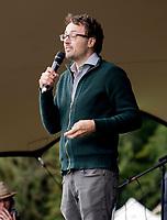 Professor Danny Dorling  at the Also Festival Park Farm, Compton Verney, Warwick 29th aug 2020 photo by Mark Anton Smith
