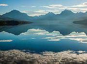 Glacier National Park.  Lake McDonald and Early Morning Reflections.