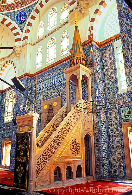 TURKEY, ISTANBUL, OTTOMAN Rustem Pasa Camii; mosque, Sinan, 15thc.