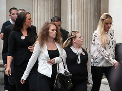 © Licensed to London News Pictures. 04/08/2015. Bristol, UK.  Family and friends arrive for the Plea Hearing in the Becky Watts murder trial at Bristol Crown Court.  Photo credit : Simon Chapman/LNP