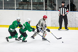 GašperSersen of HDD Jesenice during Ice Hockey match between HK SZ Olimpija Ljubljana and HDD Jesenice in Round #24 of Alps Hockey League, on December 22, 2018 in Hala Tivoli, Ljubljana, Slovenia. Photo by Ziga Zupan / Sportida
