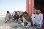 Middle East, Hashemite Kingdom of Jordan, Aqaba Governorate, the highland mountains a group of local Bedouins