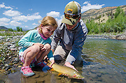 Gorgeous cutthroat in his native range, tailed by my daughter. Enough said!