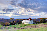 Nov. 8, 2011 - Charlottesville, Virginia - USA;  An old dairy barn surrounded by the Blue Ridge Mountains. (Credit Image: © Andrew Shurtleff)