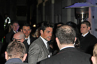 LONDON - FEBRUARY 13: David Gandy attends the public relations disaster that was the outside arrivals at the ELLE Style Awards at the Savoy Hotel, London, UK on February 13, 2012. (Photo by Richard Goldschmidt)