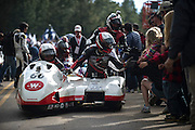 June 30, 2013 - Pikes Peak, Colorado.   Masahito/ Watanabe celebrates with fans after the 91st running of Pikes Peak Hill Climb.