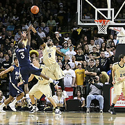 Tamir Jackson (3) shoots past Central Florida guard Marcus Jordan (5) during the first half of  a Conference USA NCAA basketball game between the Rice Owls and the Central Florida Knights at the UCF Arena on January 22, 2011 in Orlando, Florida. Rice won the game 57-50 and extended the Knights losing streak to 4 games.  (AP Photo/Alex Menendez)