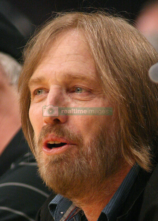 October 2, 2017 - Los Angeles, California, U.S - Monday, October 2, 2017. Tom Petty on life support at UCLA Medical Center Santa Monica after apparent heart attack in his Malibu, California home. FILE PHOTO: Singer Tom Petty attends the Los Angeles Lakers vs Houston Rockets game at Staples Center in Los Angeles,  California, Tuesday, February 1, 2011. (Credit Image: © Prensa Internacional via ZUMA Wire)