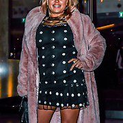 Nadia Essex attend TMA Talent Management Group host launch party for their new dating app, The List at 100 Wardour Street  on 3rd April 2019, London, UK.