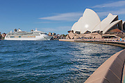 Cruise Ship Passing the Sydney Opera House