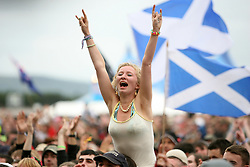 Fans at Placebo on the main stage..T in the Park, Sunday 2006..©Michael Schofield..