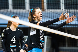 Olivera Kostic of Calcit Volley dissapointed during 3rd Leg Volleyball match between Calcit Volley and Nova KBM Maribor in Final of 1. DOL League 2020/21, on April 17, 2021 in Sportna dvorana, Kamnik, Slovenia. Photo by Matic Klansek Velej / Sportida