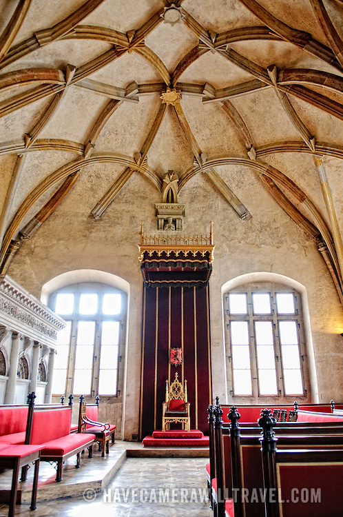 Throne Room of Vladislav Hall in Prague Castle