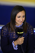 Jessica Ennis-Hill, commentating, during the European Athletics Indoor Championships 2019 at Emirates Arena, Glasgow, United Kingdom on 1 March 2019.