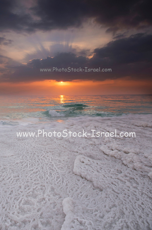 Sunrise over the Dead Sea, Israel Photographed in January