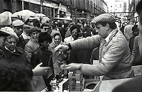 From Series of 7 Limited Edition (25) Large Framed signed Prints A3 Shot on film neg Black and White pictures Depicting Brick Lane Market London,  2 feb 1984 Photographer  Jack Ludlam<br />