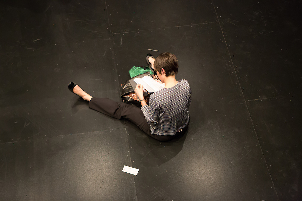 """A member of the audience after the performance of """"Dread Scott Decision"""" at BAM."""