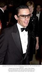 Jockey FRANKIE DETTORI at a dinner in London on 14th November 2001.OUF 39
