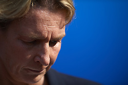 June 29, 2019 - Rennes, France - Martina Voss-Tecklenburg head coach of Germany during the 2019 FIFA Women's World Cup France Quarter Final match between Germany and Sweden at Roazhon Park on June 29, 2019 in Rennes, France. (Credit Image: © Jose Breton/NurPhoto via ZUMA Press)