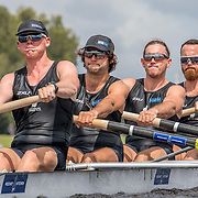 Anthony Allen, Charlie Rogerson, Cameron Webster and Alex Kennedy New Zealand Mens Coxless Four<br /> <br /> Qualification heats at the World Championships, Sarasota, Florida, USA Sunday 24 September 2017. Copyright photo © Steve McArthur / www.photosport.nz