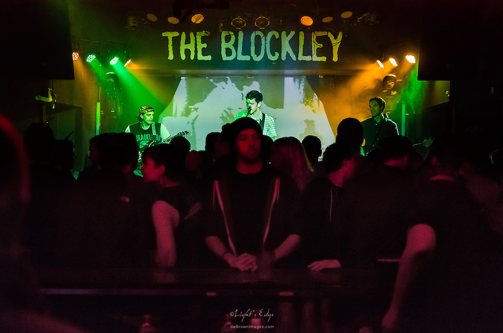 Long Miles on stage at The Blockley in Philadelphia, PA as view from the far side of the bar.