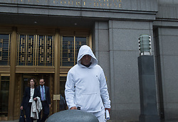 September 6, 2017 - New York, New York, U.S. - Craig Carton of WFAN's Boomer & Carton exits Manhattan Federal Court following his arraignment and arrest by the FBI in a fraud scheme on September 6, 2017 in New York. (Credit Image: © Bryan Smith via ZUMA Wire)