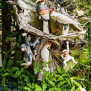 THA/Bangkok/20160729 - Vakantie Thailand 2016 Bangkok, Houten dieren