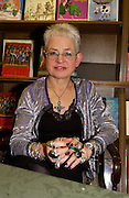 Jacqueline Wilson, Hatchards christmas party, Piccadilly, 4 December 2003. © Copyright Photograph by Dafydd Jones 66 Stockwell Park Rd. London SW9 0DA Tel 020 7733 0108 www.dafjones.com