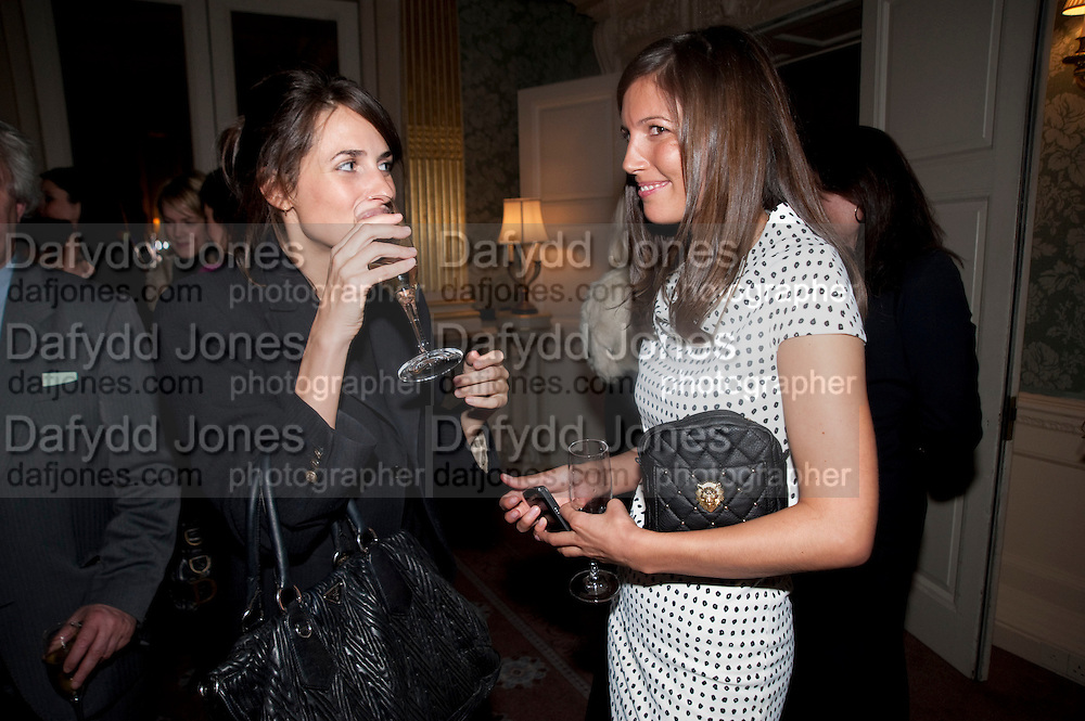 MARINA HANBURY; AMANDA SHEPPARD, The Dowager Duchess od Devonshire and Catherine Ostler editor of the Tatler host a party to celebrate Penguin's reissue of Nancy Mitford's ' Wigs on the Green.'  The French Salon. Claridge's. London. 10 March 2010.