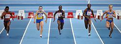 06-03-2011 ATHELETICS: EUROPEAN ATHLETICS INDOOR CHAMPIONSHIPS: PARIS<br /> European Athletics Indoor Championships Paris / (L-R) OKPARAEBO Ezinne NOO, winner POVH Olesya UKR, SOUMARE Myriam FRA, MANG Veronique FRA, RYEMYEN Mariya UKR<br /> © Ronald Hoogendoorn Photography