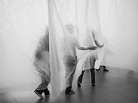 """Sum of Days"" by Brazilian artist Carlito Varvalhosa at MoMA, New York City."