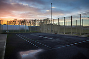 Excercise yard, Beaufort House, a skill development unit for enhanced prisoners. Part of HMP/YOI Portland, a resettlement prison with a capacity for 530 prisoners.© Prisonimage.org Any image use must be agreed first. All images must be credited.