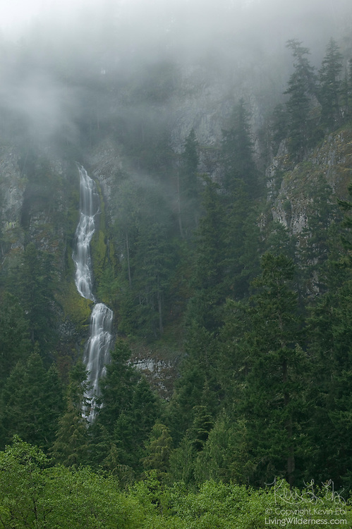 Skookum Falls, located north of Mount Rainier in Washington state, drops 250 feet into the White River.